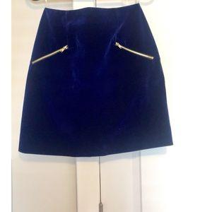 Mustard Seed Blue Velvet Skirt
